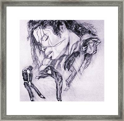 Michael Jackson Dance Framed Print by Regina Brandt