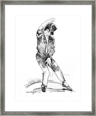 Michael Jackson Dancer Framed Print by David Lloyd Glover