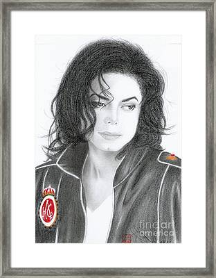 Michael Jackson #eighteen Framed Print by Eliza Lo