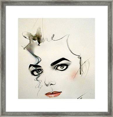 The Eyes Of Michael Jackson Framed Print