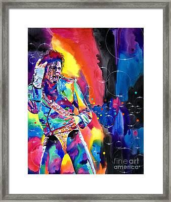 Michael Jackson Flash Framed Print by David Lloyd Glover