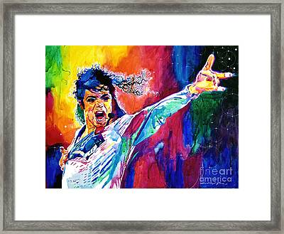 Michael Jackson Force Framed Print by David Lloyd Glover