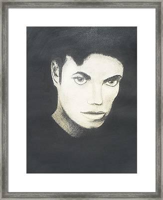 Michael Jackson Framed Print by M Valeriano