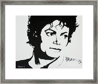 Michael Jackson Framed Print by Katharina Filus