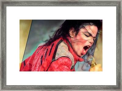Michael Jackson King Of Pop Framed Print