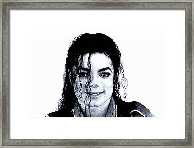 Michael Jackson Pencil Drawing  Framed Print