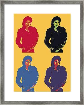 Michael Jackson Pop Art Panels Framed Print