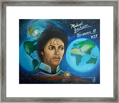 Michael Jackson Portrait. Framed Print by Jose Velasquez