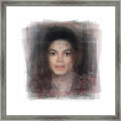 Michael Jackson Portrait Framed Print by Steve Socha