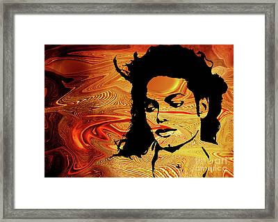 Michael Jackson Framed Print by Prar Kulasekara