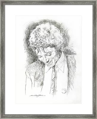 Michael Jackson - Remember The Time Framed Print by David Lloyd Glover