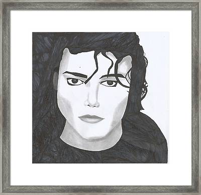 Michael Jackson Framed Print by Savannah Juba