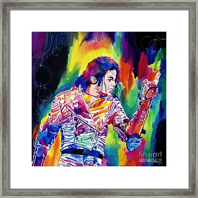 Michael Jackson Showstopper Framed Print by David Lloyd Glover