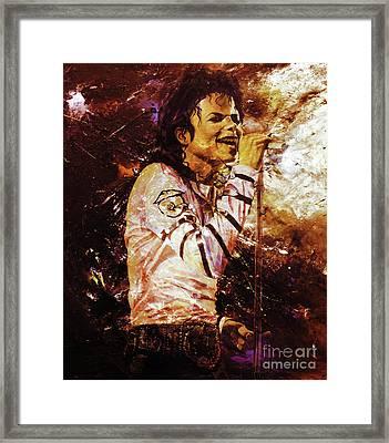 Michael Jackson Singer  Framed Print by Gull G