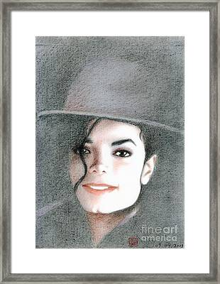 Michael Jackson #sixteen Framed Print by Eliza Lo