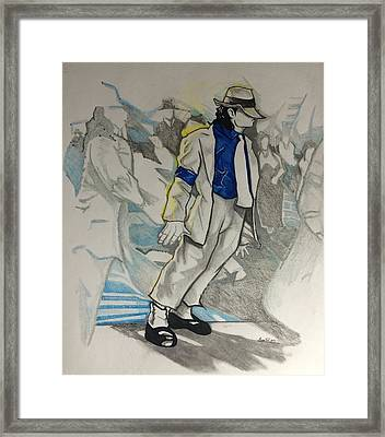 Michael Jackson - Smooth Criminal  Framed Print by Gregory Taylor