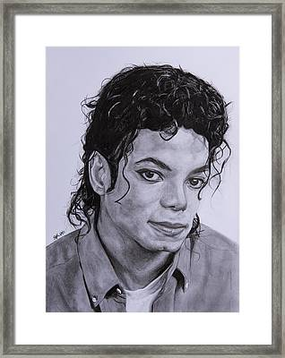 Michael Jackson Framed Print by Steph Maiden