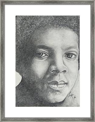 Michael Jackson Framed Print by Stephen Sookoo