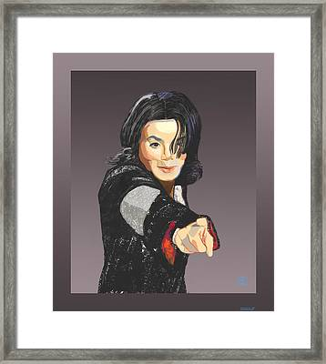 Michael Jackson-tell It Like It Is Framed Print