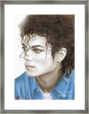 Michael Jackson #ten Framed Print by Eliza Lo