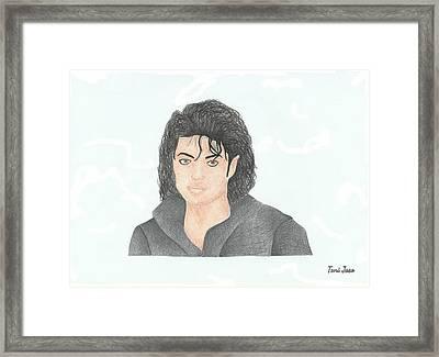 Michael Jackson Framed Print by Toni Jaso