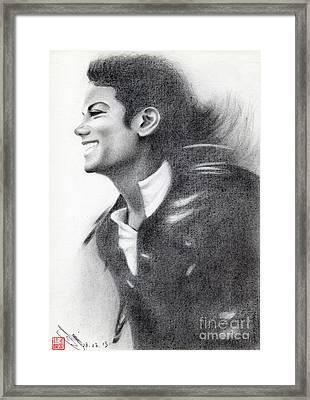 Michael Jackson #twenty-one Framed Print by Eliza Lo