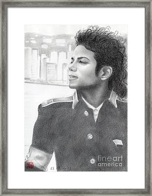 Michael Jackson #twenty-two Framed Print by Eliza Lo