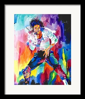 King Of Pop. Dancer Framed Prints