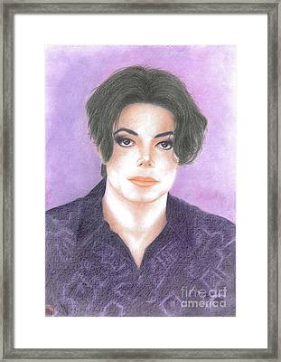 Michael Jackson - You Are Not Alone Framed Print by Eliza Lo