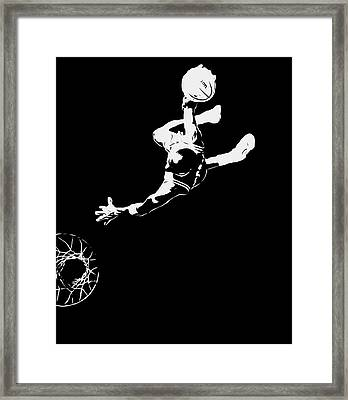 Michael Jordan Above The Rim 1 Framed Print by Brian Reaves