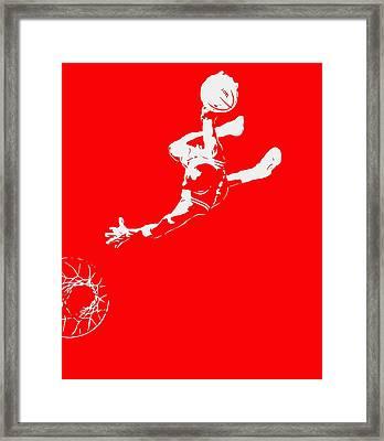 Michael Jordan Above The Rim 2 Framed Print by Brian Reaves