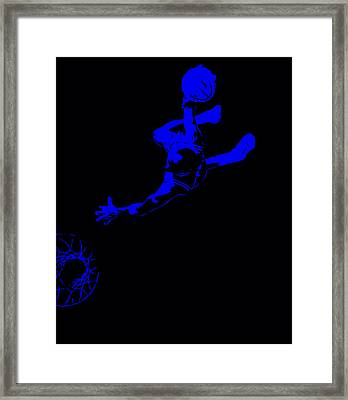Michael Jordan Above The Rim Framed Print