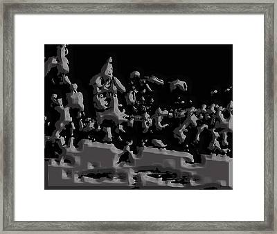 Michael Jordan Aluminum Casting 1a Framed Print by Brian Reaves