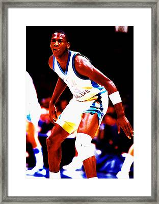 Michael Jordan At Unc Framed Print