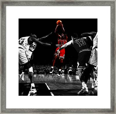 Michael Jordan Back From Retirement Framed Print