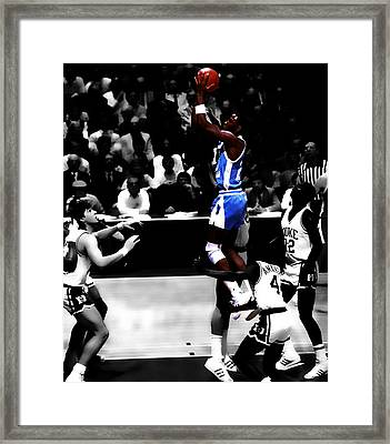 Unc Tarheel Michael Jordan  Framed Print