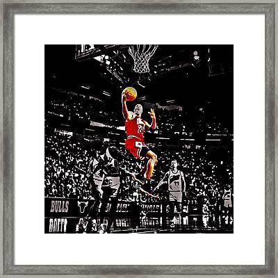 Michael Jordan Caught Them Looking Framed Print by Brian Reaves