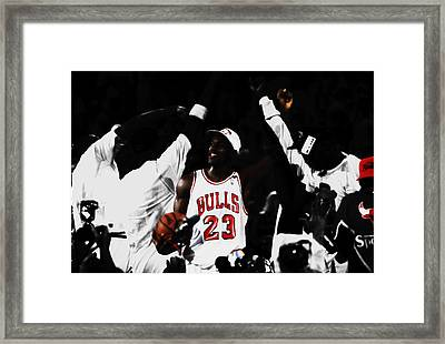 Michael Jordan Champs Again Framed Print