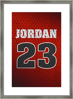 Michael Jordan Chicago Bulls Retro Vintage Jersey Closeup Graphic Design Framed Print by Design Turnpike