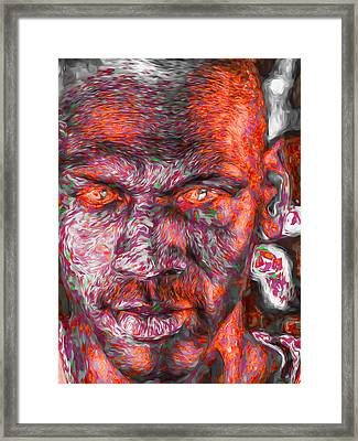 Michael Jordan Digital Painting 2 Framed Print by David Haskett