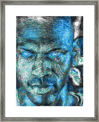 Michael Jordan Digital Painting 3 Framed Print by David Haskett