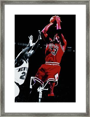 Michael Jordan Fade Away Framed Print