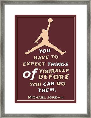 Michael Jordan Famous Basketball Players Quotes Framed Print