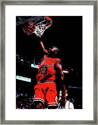 Michael Jordan Game Point Framed Print