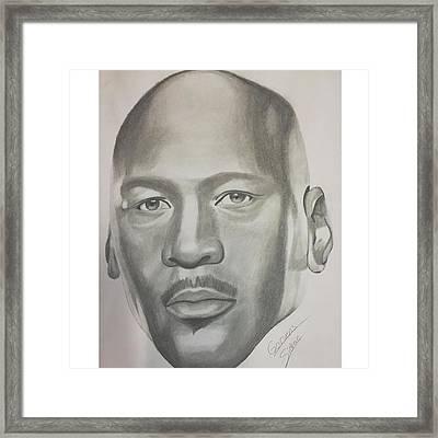 Michael Jordan Framed Print by Garvens Sidrac