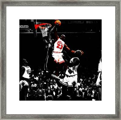 Michael Jordan Gimme Dat Framed Print by Brian Reaves