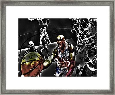 Michael Jordan Got Em Looking Framed Print by Brian Reaves