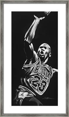 Michael Jordan  Framed Print by Don Medina
