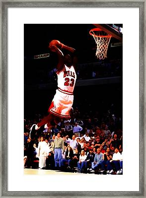 Michael Jordan In Flight 7c Framed Print