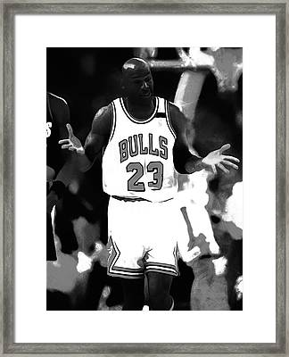 Michael Jordan It Must Be The Shoes Framed Print by Brian Reaves